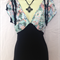 ladies stunning two tone stretch floral  top size 14