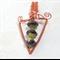 Wirewrapped Glass Lampwork Dagger Shape Pendant Copper