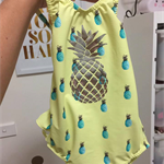 { Ready to post! } Sz 5 Girls Ruffle Bum Swimmers, Bathers, Togs with Pineapple