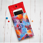 Butterfly phone cover, ipod cover, red blue mobile case