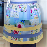 Half Apron - Retro Cottage Chic womens apron - lined cotton apron - flower theme