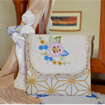 Doily purse, Mothers day gift, embroidered wallet