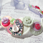 Pretty Button Necklace in Pastel Colours