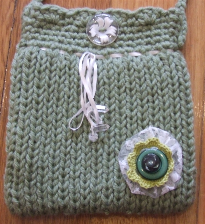 Loom Knitted Bag Chrissies Hand Made Gifts Madeit