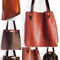 Leather tote, leather bag, handmade leather bag, hand stitched leather