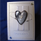 'Silver Heart with Pearls' Wedding Card