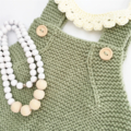 Romper - Merino Wool Knitted Playsuit baby - 9-12 months
