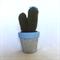 Crochet cactus in cement pot