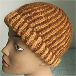 Alpaca Winter Beanie Unisex Brown Hand Spun & Knit Natural Colours Dye-Free