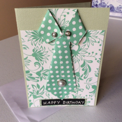Male birthday card. Shirt & tie birthday cards