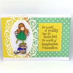 Gorjuss Book Lover Hand-Coloured C6 card