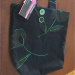 Black and Green Fabric Bag