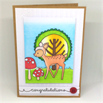 Woodland Fawn Hand-Coloured C6 Baby 'Congratulations' card