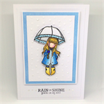 Gorjuss Rainy Day 'You're On My Mind' Hand-coloured C6 card