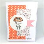 Cute Ballerina 'Hello You' Hand-Coloured C6 card