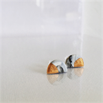 MINI MARBLEOUS {Midnight Copper Crest} Half Moon - Studs