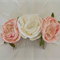 Flower hair comb, ivory and pink lace flower, Bride, Bridesmaid, Flower Girl
