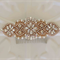 Bridal Hair Accessory, Rose Gold and Rhinestone and Pearl Wedding Hair Comb
