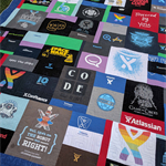 T Shirt memory quilt custom quilt made to order Deposit only