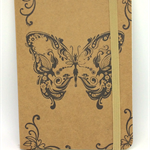 *DISCOUNTED* Butterfly Faerie Hand-Stamped Small Kraft Notebook