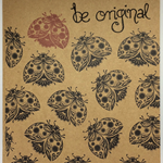 A5 Kraft Hand-Stamped Quirky Ladybug Notebook