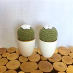 Crochet cactus twins
