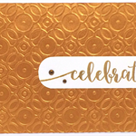 Embossed Copper Geo Design 'Celebrate' Handmade C6 card