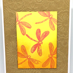Stunning Dragonfly Embossed Kraft Handmade C6 card
