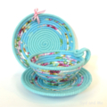 Tea Cup & Saucer Basket