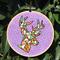 Embroidered Hoop Art - Geometric Deer