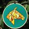Embroidered Hoop Art - Geometric Horse
