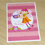 Girls Happy Birthday card - garden fairy
