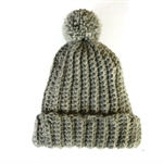Beanie unisex chunky knit pom pom woollen winter hat crocheted beanie