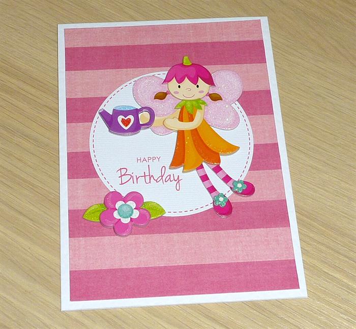 Girls Happy Birthday Card Garden Fairy Vicki G Madeit