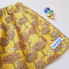 Easter Mustard or Navy Skirt size 6,7,8