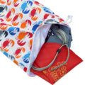 Small Wet Bag. Fully Lined Swim Bag for the Pool or Beach. Nappy Bag. Crabs.