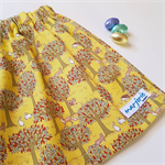 Easter Mustard or Navy Skirt size 6,7,8