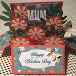 Mother's Day card Flowers in a box