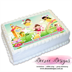 Fairies Personalised A4 Edible Icing Cake Topper