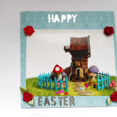 Quirky blank Easter card