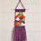 Weaved Wall Hanging, Purple, Orange, Green and White