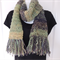 Hand knitted wool scarf. Handspun natural scarf. Unique scarf. scarves