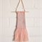 Weaved Wall Hanging, Peach and Silver