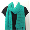 Hand knitted wool scarf. Winter scarf. Emerald green. woollen scarf. scarves.