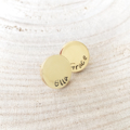 Mothers Day Earrings, Hand Stamped Studs, Personalised for Mum, Gift For Her