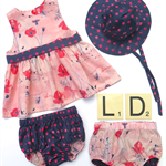 Wildflower and sunspots clothing set - organic cotton