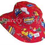 Toddler Hat ~ Choo Choo ~ 46cm - Wide Brim