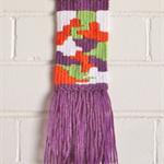 Weaved Wall Hanging, Purple, Orange, Green and White