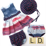 Sunspots and sky clothing set - organic cotton
