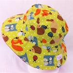 Toddler Hat ~ Woodland Creatures ~ 53cm - Wide Brim